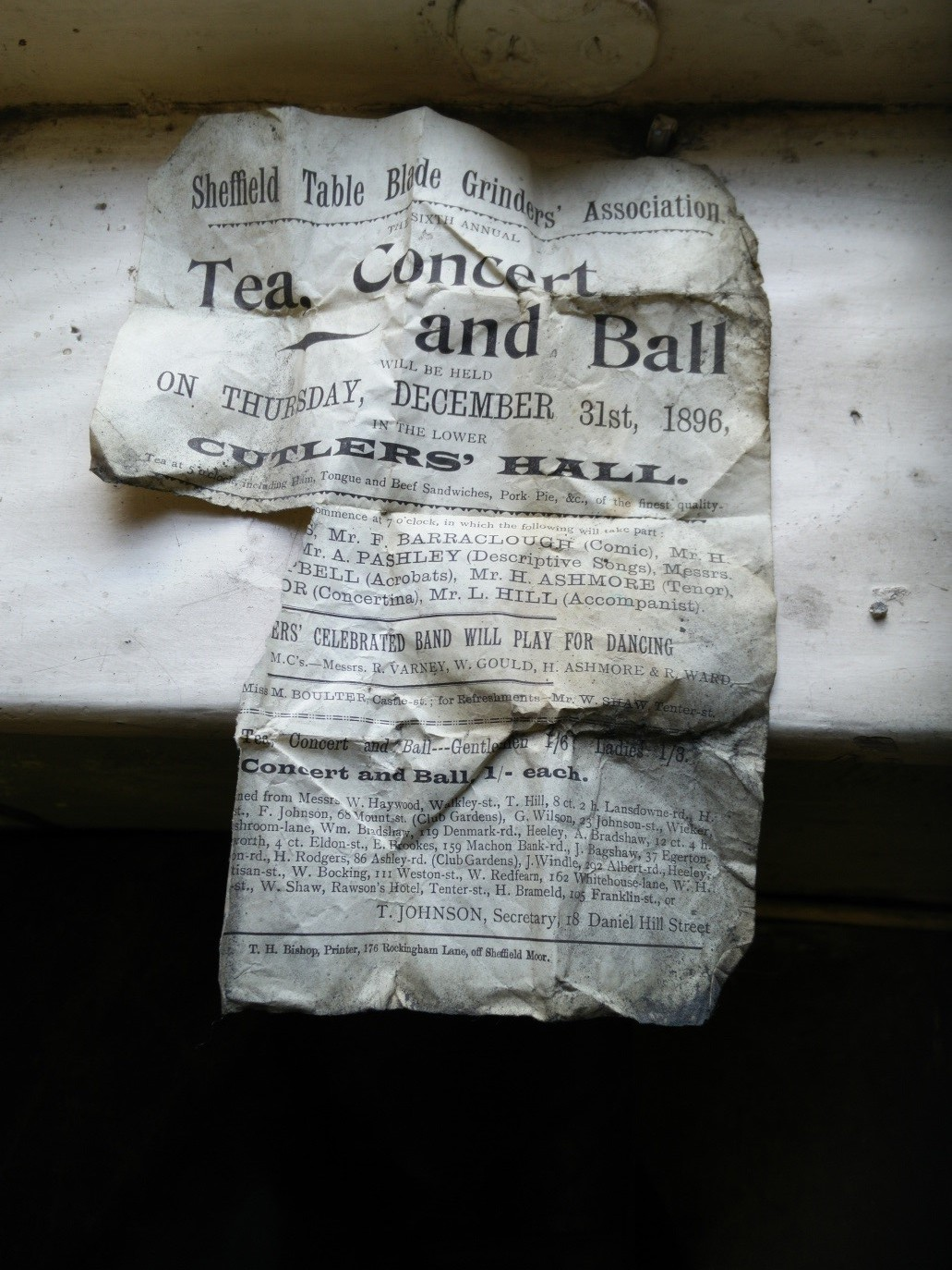 Tea, concert and ball newspaper