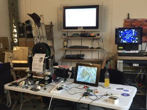 A number of projects running including a 3D printer and pirc running in the background.