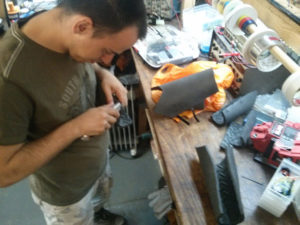 Cosplay armour manufacture