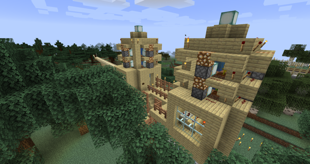 Pumpkin and Melon farm in Minecraft