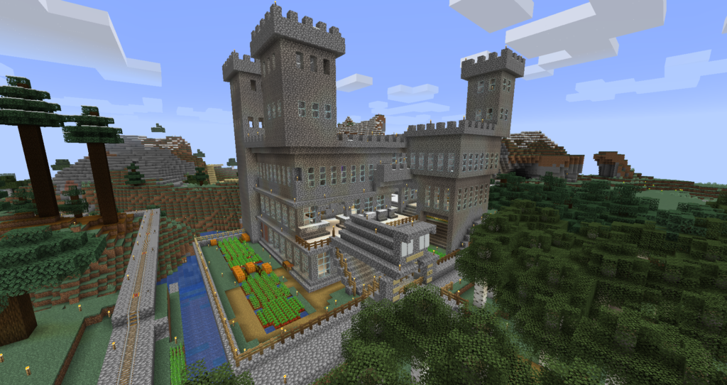 Monty Python Castle in Minecraft