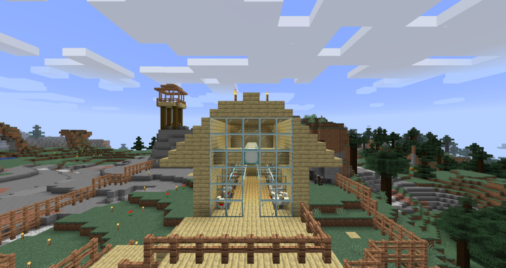 """free range"" egg farm in Minecraft"