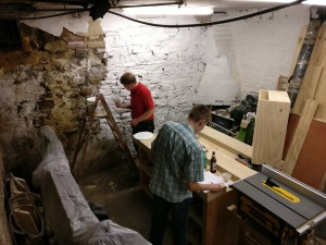 Painting and planning in cellar